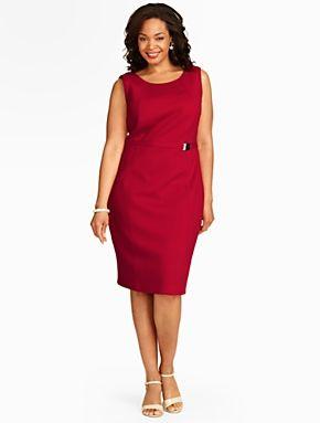 Talbots - Belted Textured Knit Dress | |