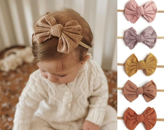 Knit Bow Headwrap Thick Headband Ear Warmer Headwarmer Head Wrap Turban Handmade Beanie | Wool Blend | Fall Winter by Paisley Braids