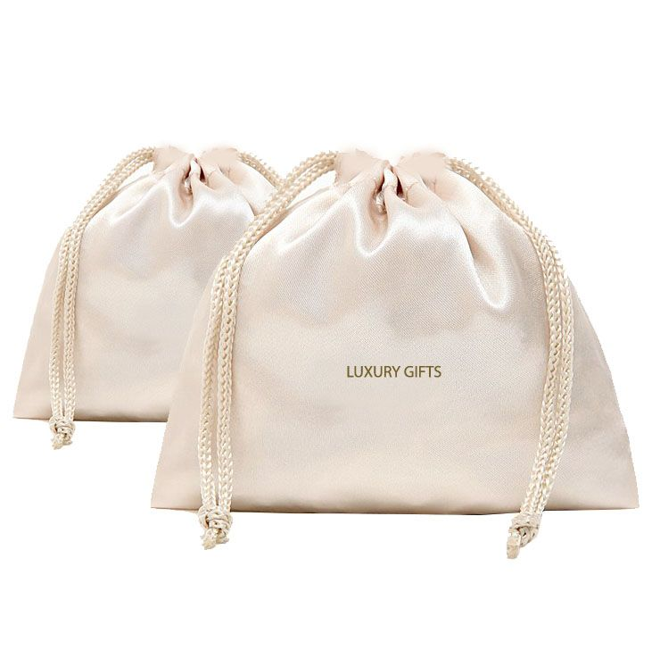 Download Off White Luxury Satin Drawstring Bag Luxury Wedding Invitations Handmade Invitations Wedding Favors Satin Bags Bags Clothing Packaging