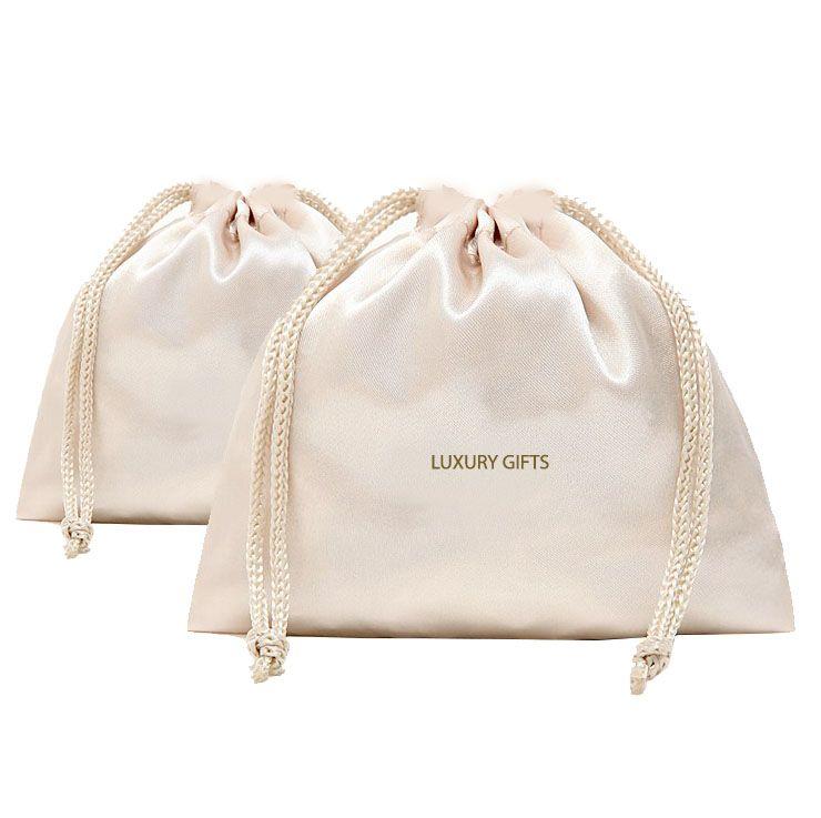 Download Off White Luxury Satin Drawstring Bag Luxury Wedding Invitations Handmade Invitations Wedding Favors Satin Bags Bags Clothing Packaging