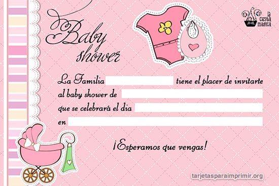 Tarjetas Baby Shower De Niña Para Imprimir Gratis 7 In 2019