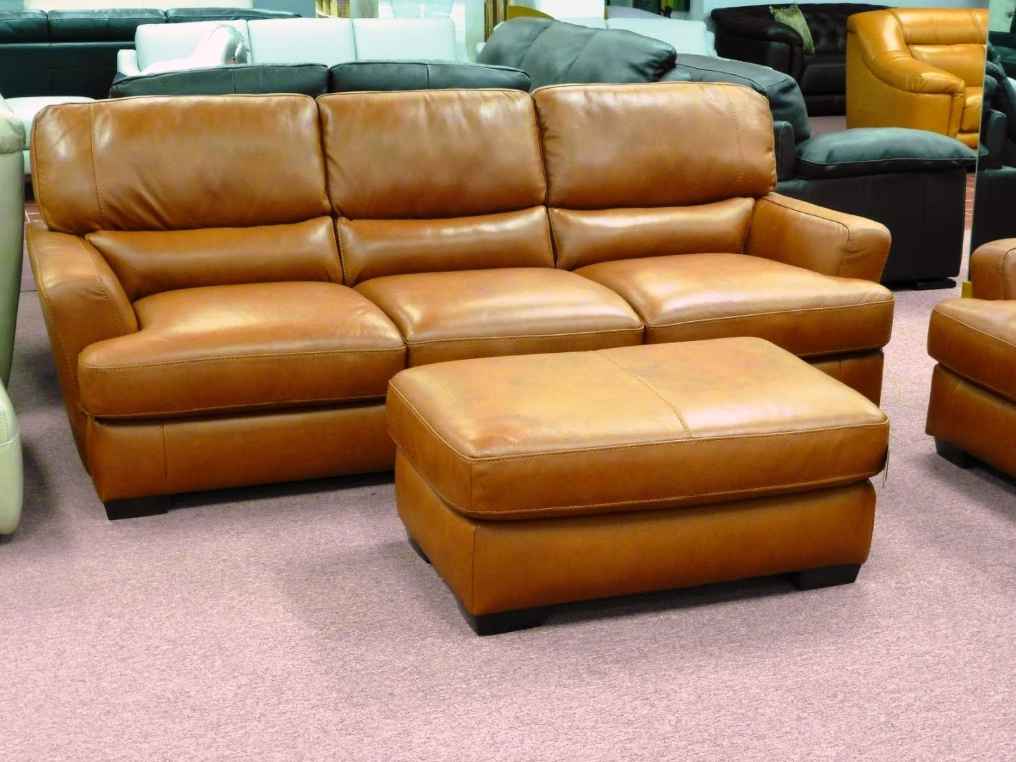 Natuzzi Sale In Natuzzi Leather Sofas Orange