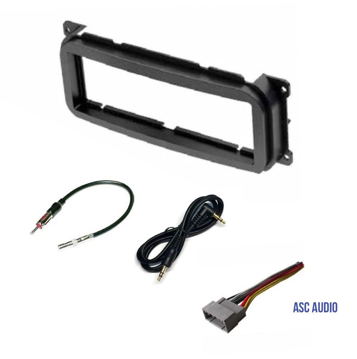 Single Din Car Stereo Dash Kit  Wire Harness  Antenna