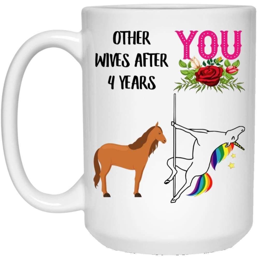 4 year anniversary gift for wife mug 3rd year