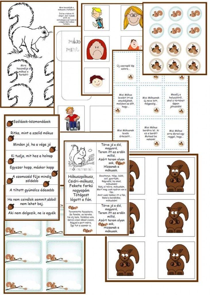 Olvasónapló Misi mókus kalandjaiból | 2.osztály | Pinterest