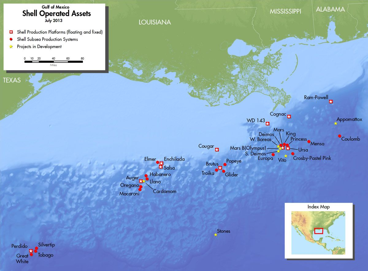 louisiana oil rig map Deep Water Giant Begins Production In Gulf Of Mexico Field Photos louisiana oil rig map