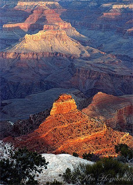 Sunrise Colors from Yaki Point  by Ken Hornbrook - inspirationalphotoimages.com, via Flickr; Grand Canyon National Park