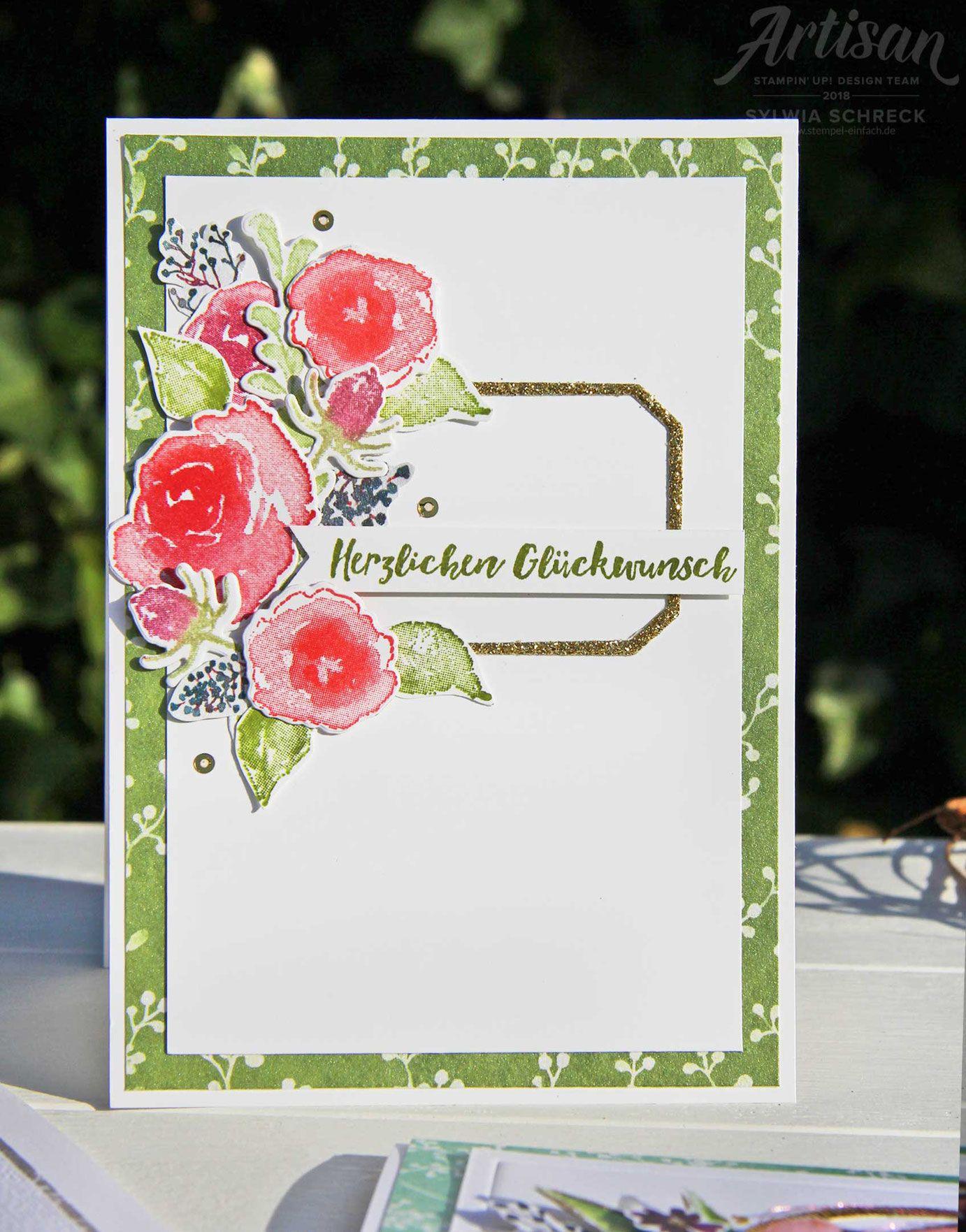 Eisblüten Karten Mit Stampin Up Sylwia Schreck Stampin Up