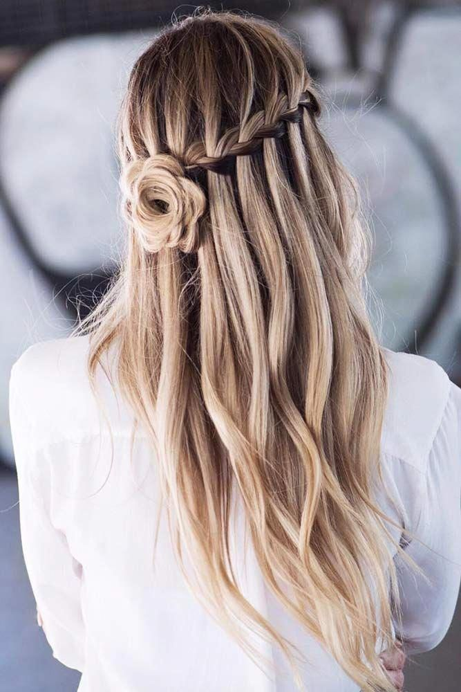 Interesting Ideas For Your Prom With Waterfall Braids # ...