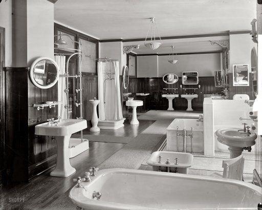 "washington, d.c., circa 1920. ""standard sanitary manufacturing co, Badezimmer"