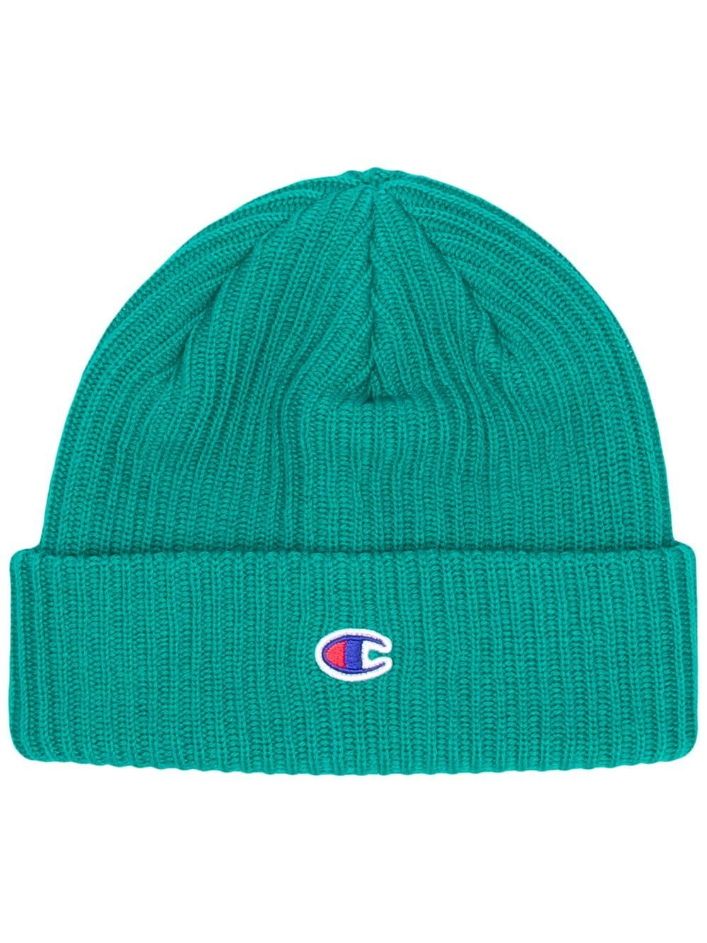 26aa739478a5a4 CHAMPION CHAMPION EMBROIDERED LOGO BEANIE - GREEN. #champion ...