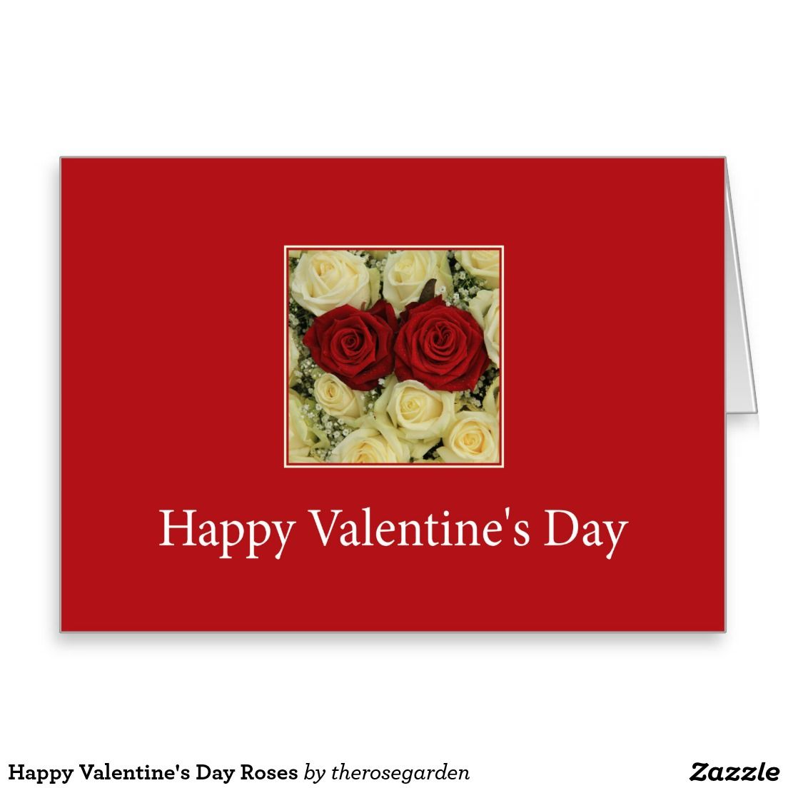Happy Valentines Day Roses Greeting Card Shared Board For