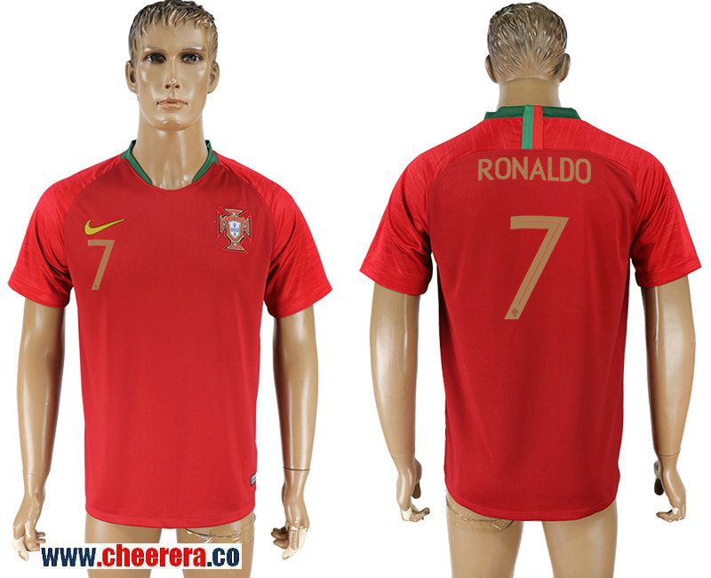 Portugal 7 Ronaldo Home 2018 Fifa World Cup Thailand Soccer Jersey With Images Soccer Jersey