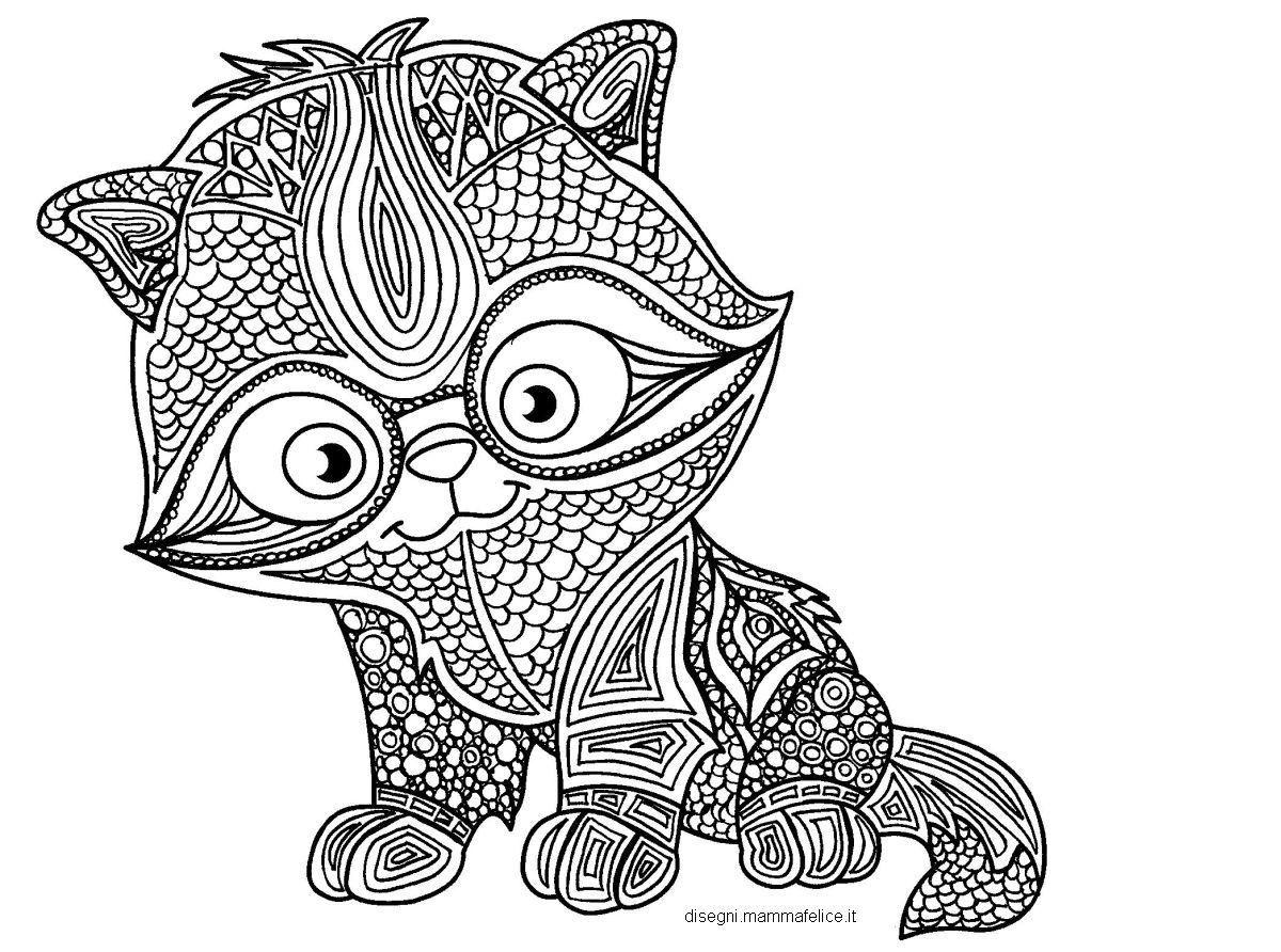 Mandala Da Colorare Il Gattino Studioso Disegni Mammafelice Con