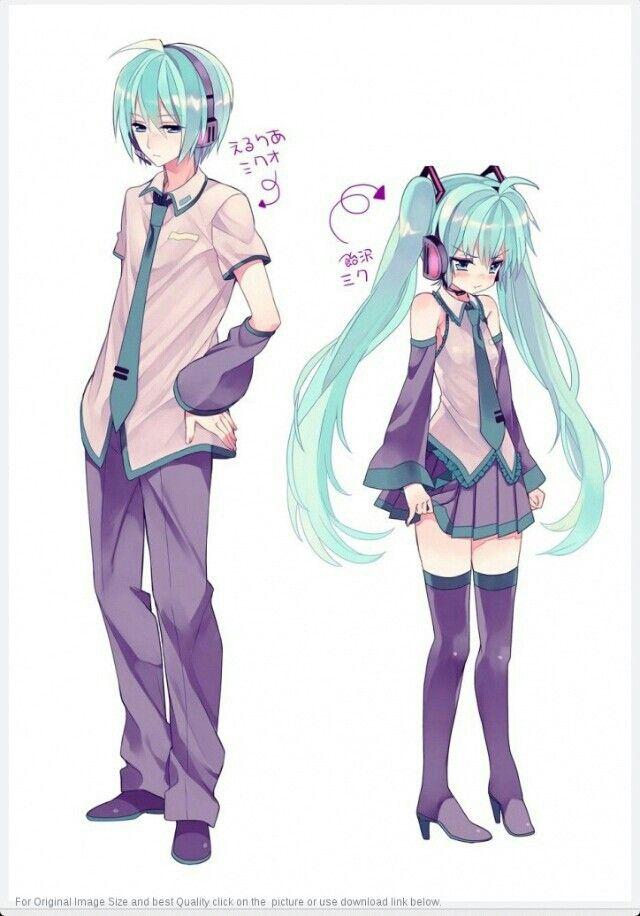 Genderbend Of Miku Crossover Genderbend Anime Vocaloid Anime Art