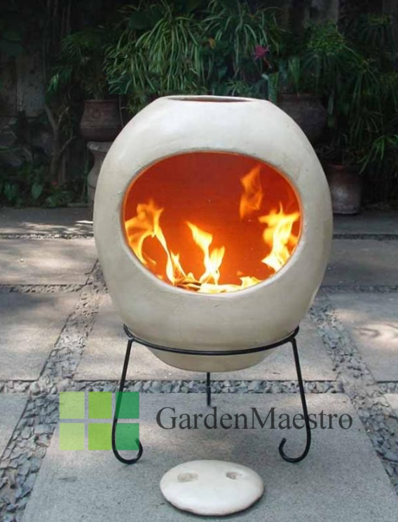 Charming Eclipse Beige Mexican Clay Chiminea (Extra Large)