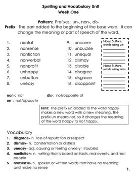 4th Grade Spelling and Vocabulary Common Core Differentiated ...