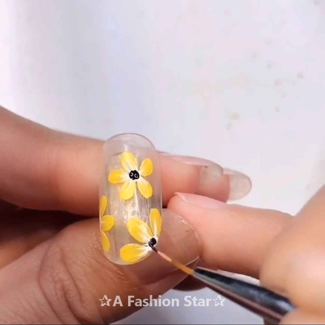 Most recent CostFree Fall Nail Art sunflower Popular en
