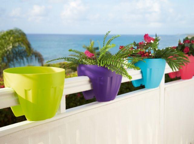 Jardiniere balcon coloree gifi