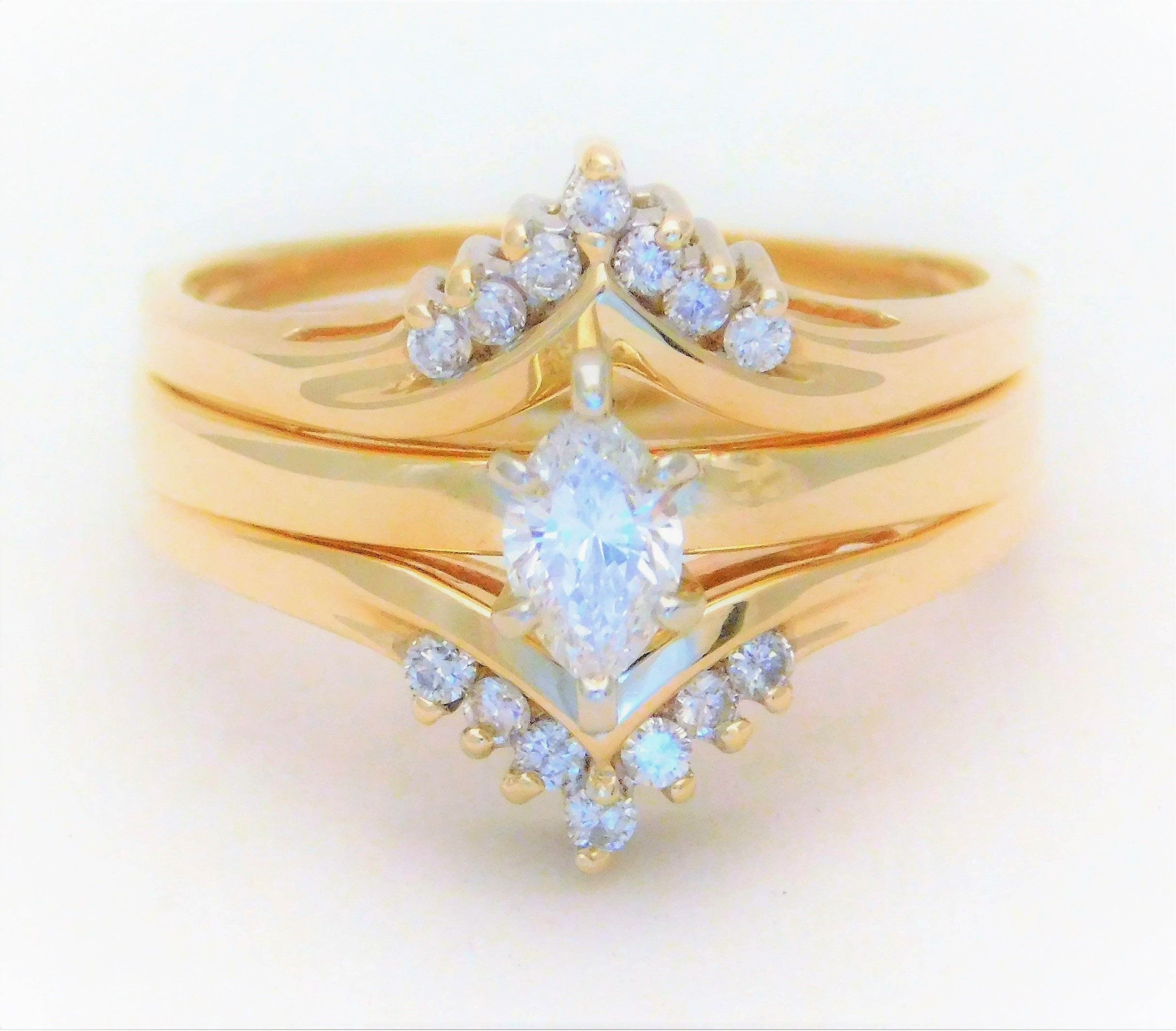 Vintage Marquise Diamond Solitaire Engagement Ring with