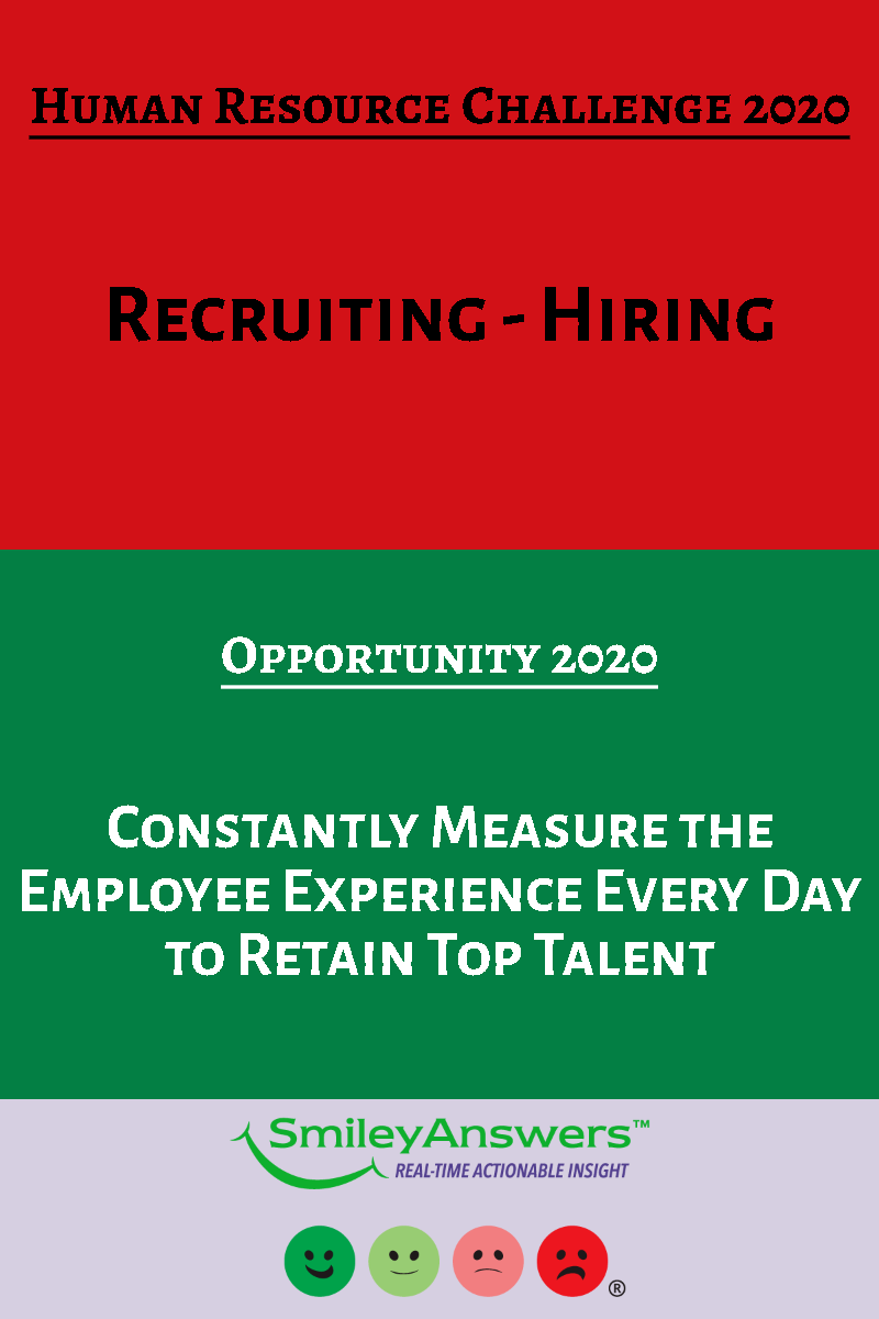 Human Resource Challenge 2020 Recruiting And Hiring Human Resources Employee Satisfaction Employee Satisfaction Ideas