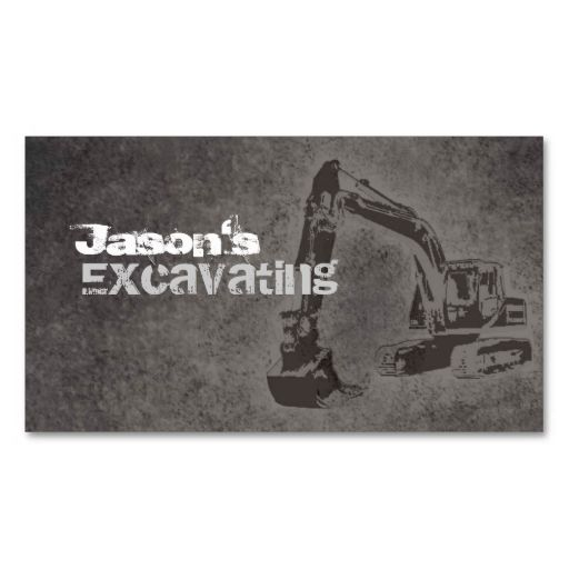 Excavating business cards business cards construction business excavating business cards colourmoves