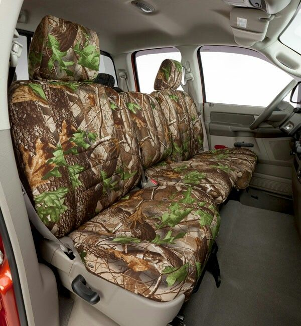 Camo Seat Cover He Has A 1995 Chevy Truck Bucket Seats In Front And
