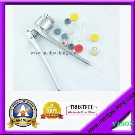 100.00$  Watch here - http://alikot.shopchina.info/go.php?t=32657638874 - 100sets/ lot 10ml Glass Vials+20mm Vial Stopper + 20mm Flip off Caps + 1pcs 20mm Vial Crimper  #buyininternet