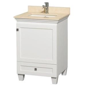 Wyndham Collection Acclaim 24 In Vanity Espresso With Marble Top Ivory And