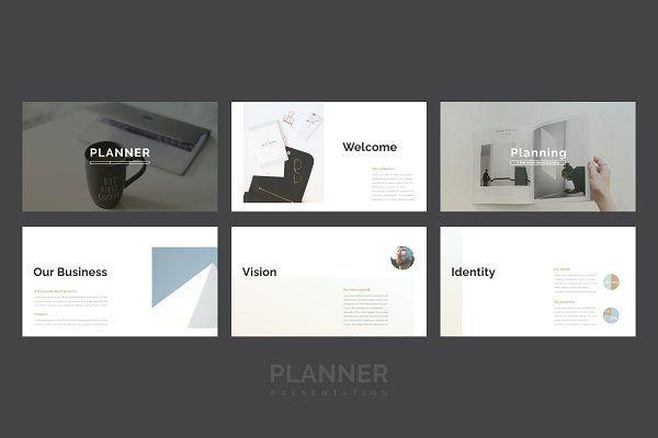 Planner Powerpoint Template Business Plan Presentation Power
