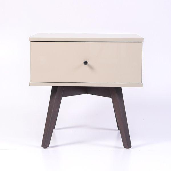 Miranda Bedside Table High Gloss Khaki Bedside Table Design