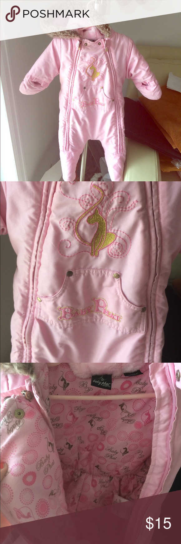 ea1fb0f0557e Baby Phat Snow Suit Adorable and warm baby snow suit. Size is 0-6m ...