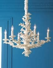coral chandelier. beach luxe?