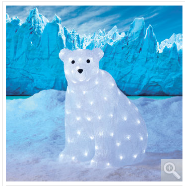 polar bear w led lights holiday seasonal yard decor outdoor christmas display - Polar Bear Christmas Outdoor Decoration Led Lights