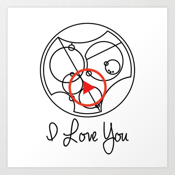 I Love you Gallifreyan Doctor Who Art Print by beckiboos