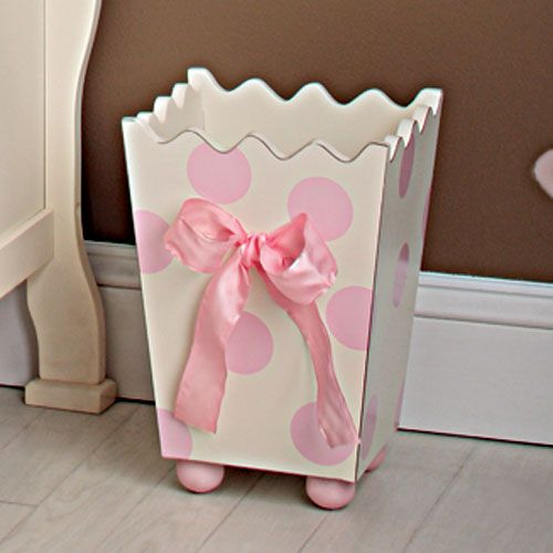 Wooden Wastebasket Wooden Wastebasket In Pink  Pom Pom Princess At Poshtots  Laila