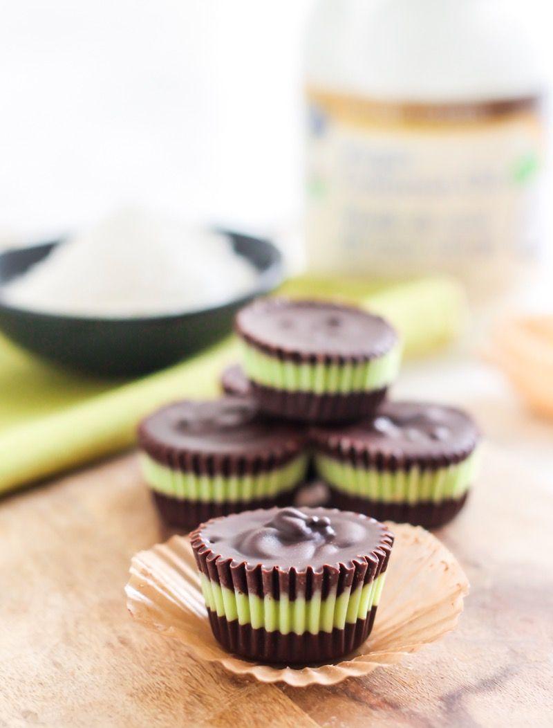 6-Ingredient Matcha Mint Dark Chocolate Cups   Recipe   Nut free ...
