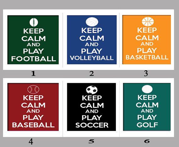 Keep Calm And Play Soccer Soccer Football Sports Qhd: Keep Calm And Play Football Volleyball By