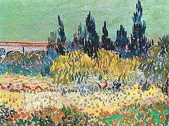 Arte amapola - El jardín en Arles de Vincent van Gogh