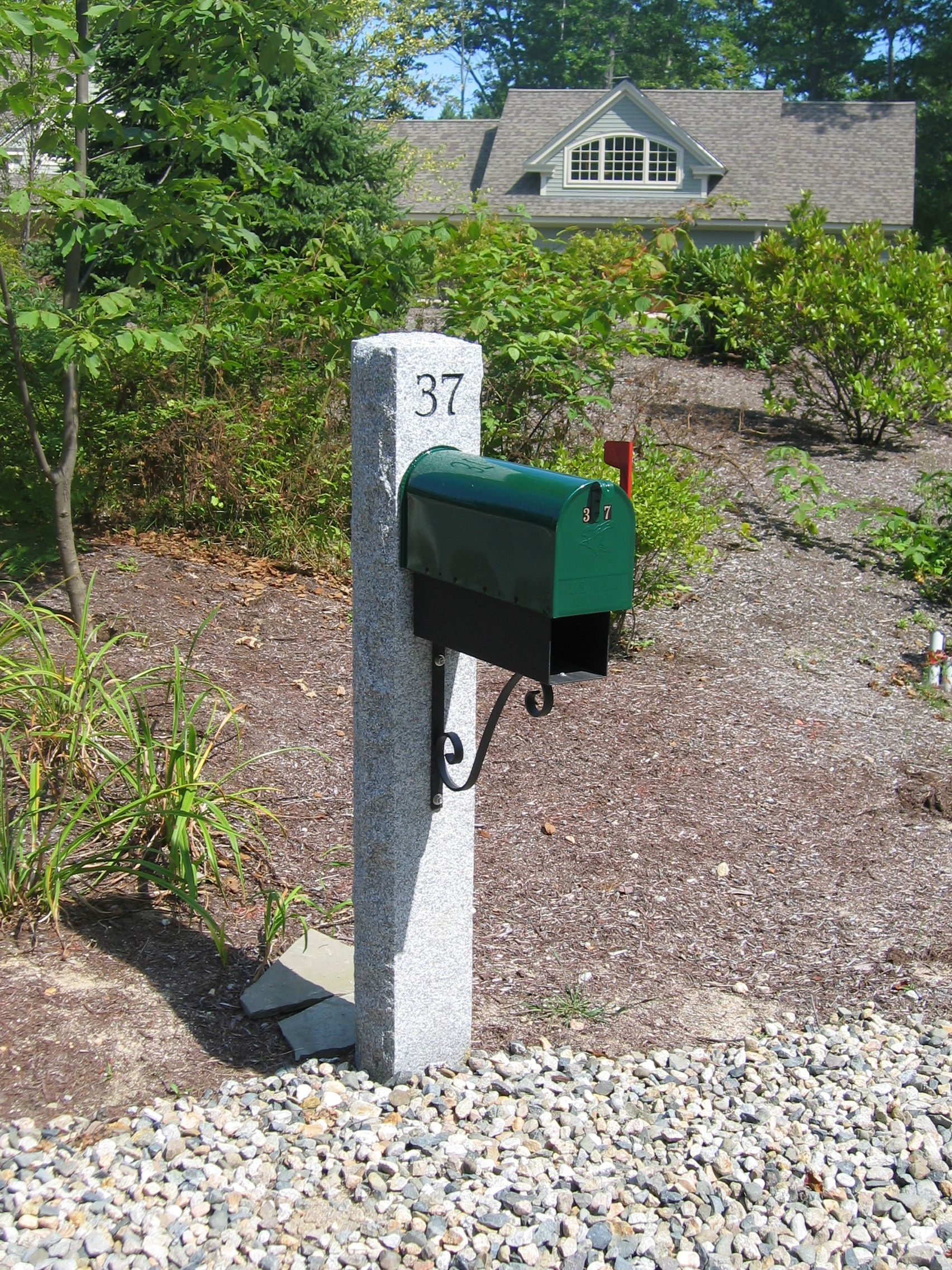 Mailbox Idea Mailbox Mailbox Post Granite