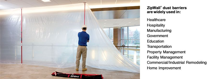 Zipwall Dust Barrier System Commercial Remodeling Remodel Property Management