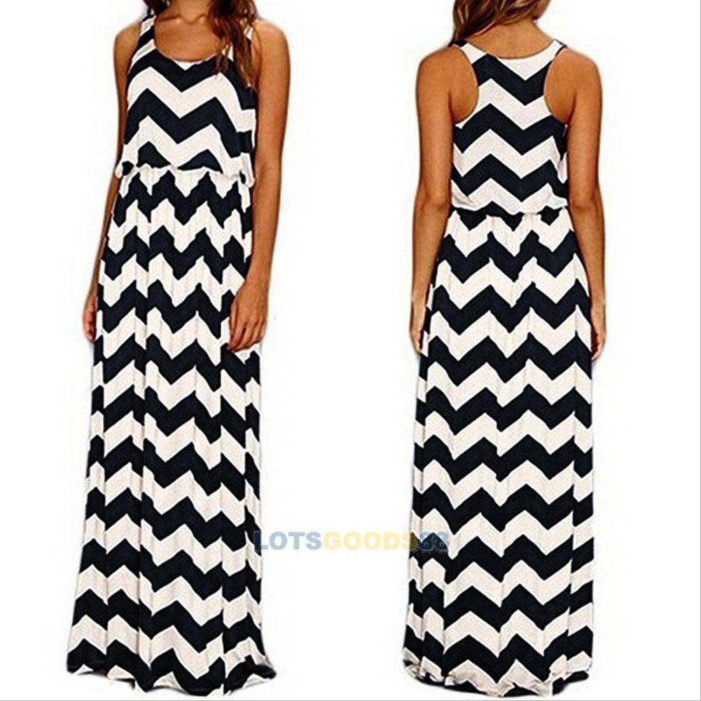 9745746f297d8 Sexy Summer Women Boho Long Maxi Evening Party Dress Beach Dress ...