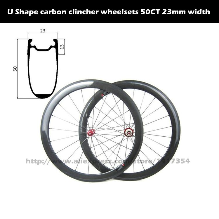 700c Aero Shape 50mm Carbon Clincher Wheelsets Tubeless Ready High Tg Clincher Wheelsets For Road Bike Road Bike Bike Bicycle Parts