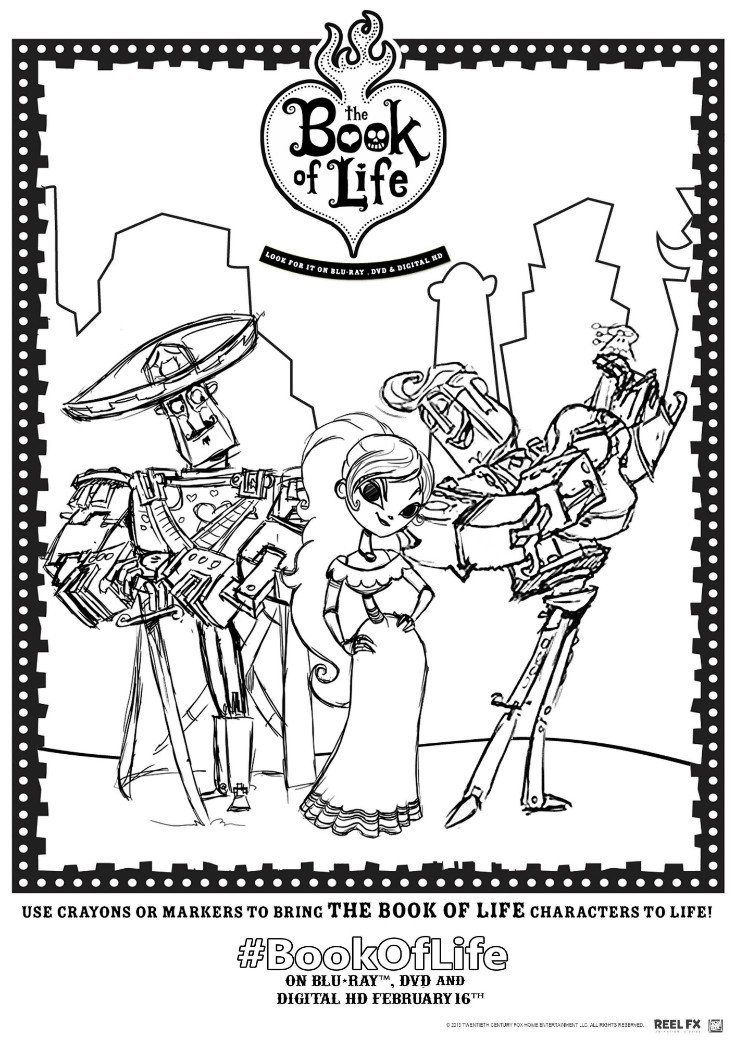 book of life coloring pages Book of Life Printables and Twitter Viewing Party  book of life coloring pages