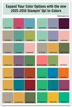Stampin Up Color Refresh Chart Google Search - Trendy color combinations