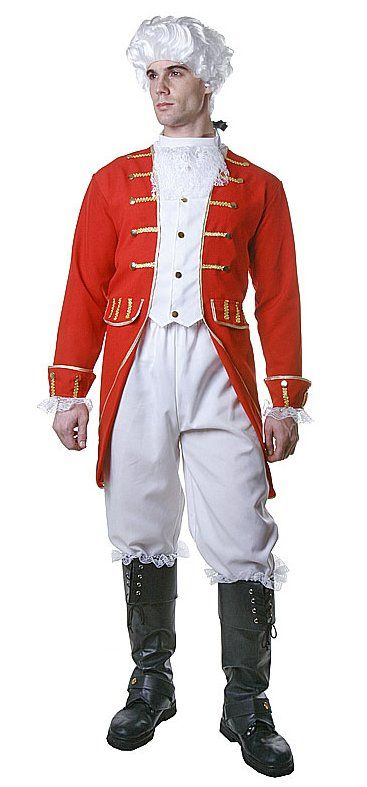 Adult Revolutionary War Red Coat or Toy Soldier Costume - Candy ...