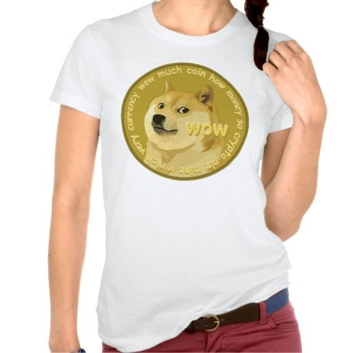 Dogecoin Chatty Shibe Logo T-shirts