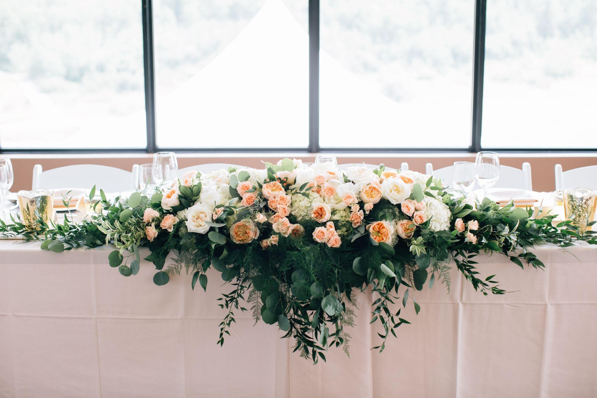 Calgary Wedding Flowers- 5 Foot Long Head Table