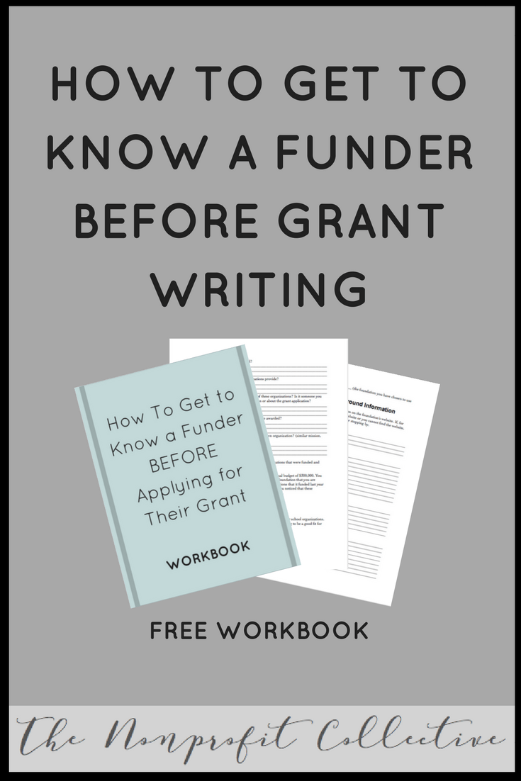 How To Get Know A Funder BEFORE Grant Writing Workbook