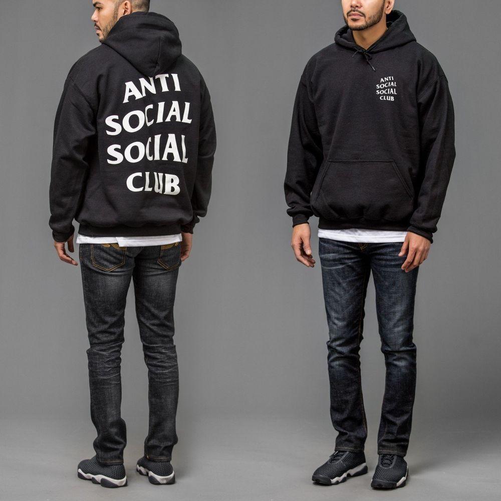 Anti Social Social Club ASSC x Neighborhood 911 turbo logo Black Hoodie in hand